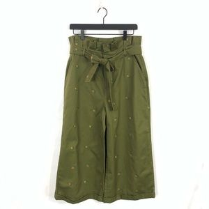 ENGLISH FACTORY Pineapple Belted Culottes Pants